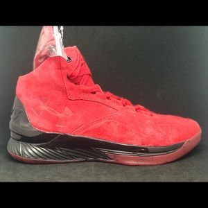 Under Armour Curry Lux Mid Suede Red